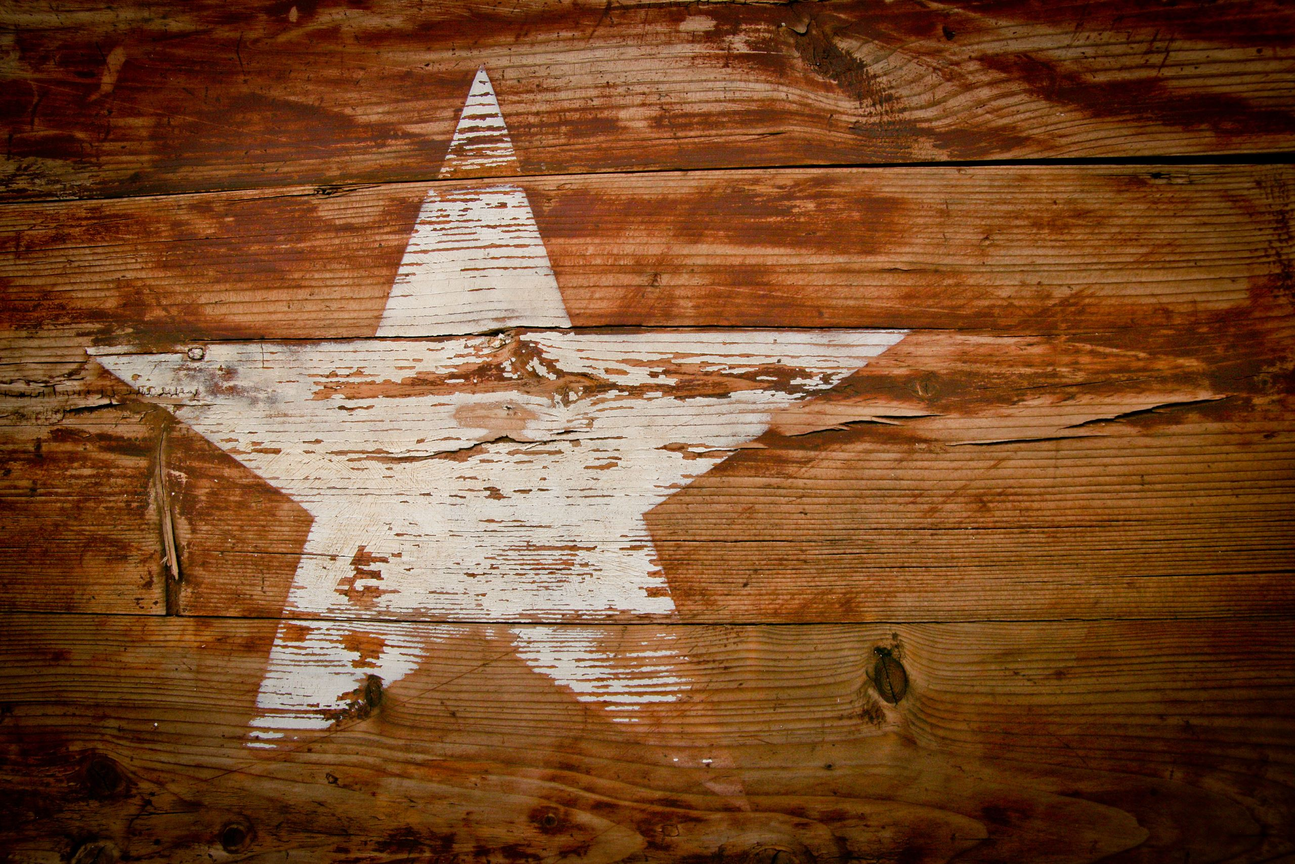 Texas Star painted on wood